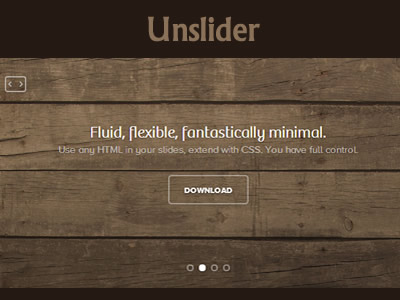 unslider - simple and responsive jquery slider plugin